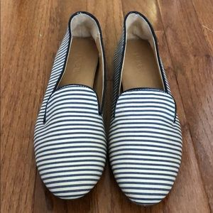 J. Crew Striped Darby Loafers